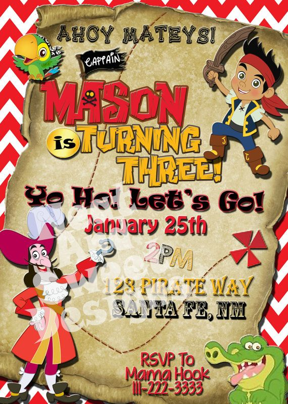 17 Best ideas about Neverland Invitation – Free Jake and the Neverland Pirates Birthday Invitations