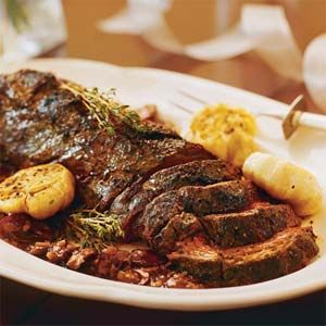 Peppered Beef Tenderloin With Portobello-Marsala Sauce | MyRecipes.com
