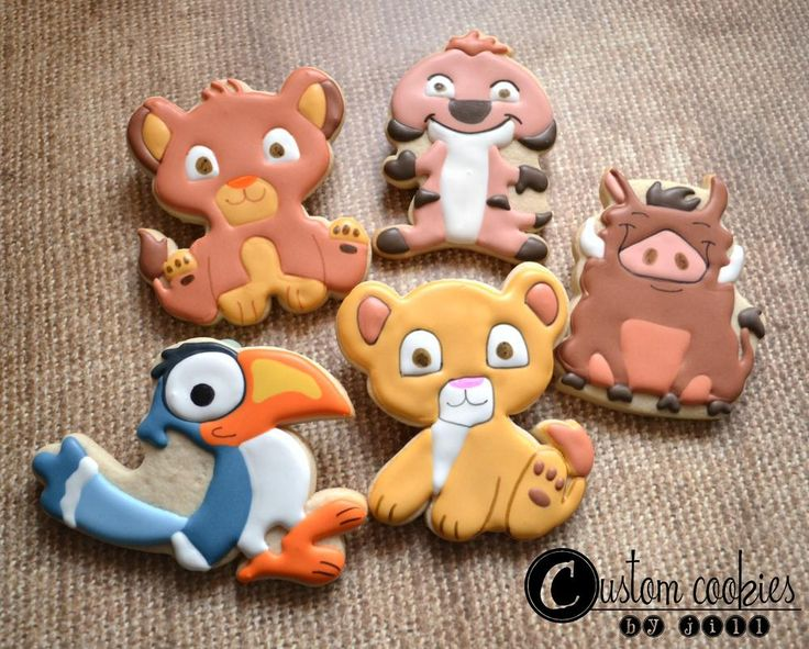 Lion King - Baby Shower - Custom Cookies by Jill | Cookie Connection