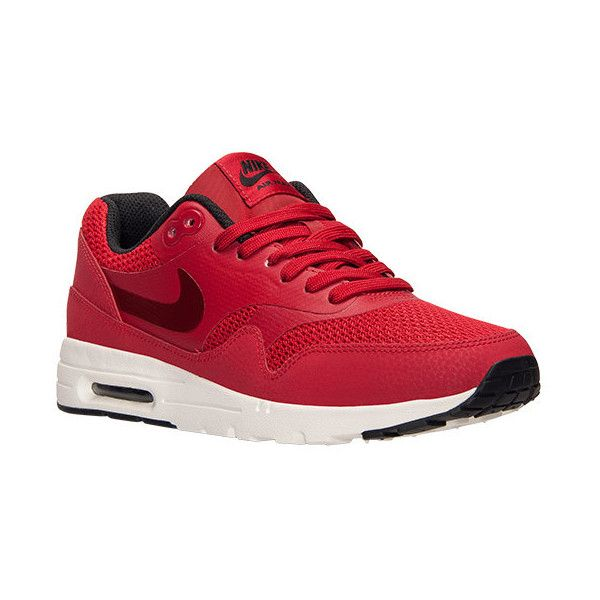 Women's Nike Air Max 1 Ultra Essentials Running Shoes (€100) ❤ liked on Polyvore featuring shoes, athletic shoes, nike footwear, athletic footwear, running shoes and nike