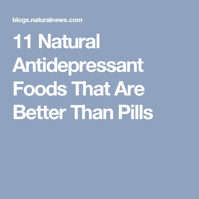 11 Natural Antidepressant Foods That Are Better Than Pills