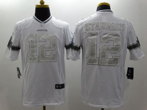 nike cowboys roger staubach white mens stitched nfl limited platinum jersey and falcons devonta free