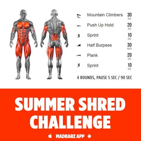 Will you accept the challenge? The fastest way to reveal your abs - sprint and sweat.