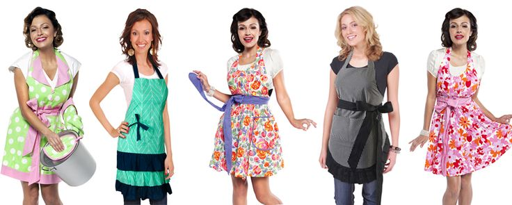 Enjoy The French Shoppe's new fun & flirty women's #apron range. http://www.thefrenchshoppe.com.au/french_kitchen.html