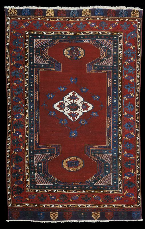 OTTOMAN CARPETS IN THE XVI - XVII CENTURIES (16-17TH CENTURIES)  Bausback double-ciche carpet, Turkey, Anatolia, Konya region, 1650-1750 Los Angeles County Museum of Art