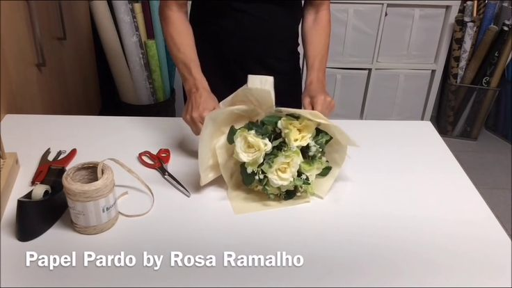 Bouquet wrapped with tissue paper #wrapflowers