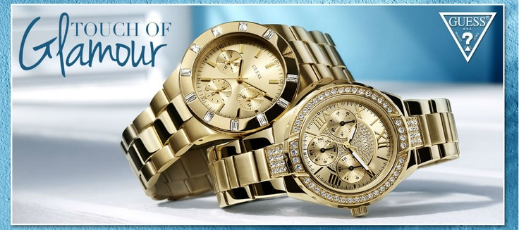 GUESS Watches, Touch Of Glamour!!!! Δείτε όλη τη συλλογή ρολογιών εδώ: http://www.oroloi.gr/index.php?cPath=387