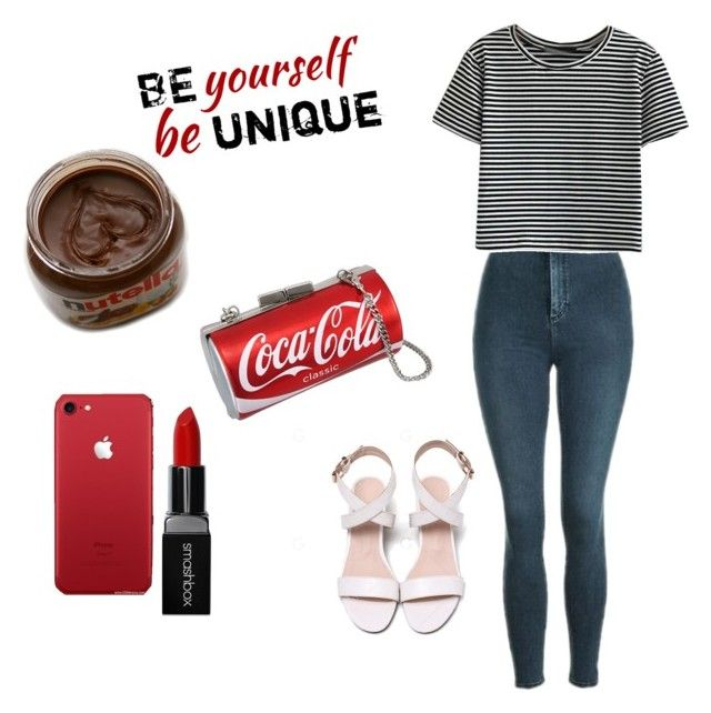"""""""Running errands  Outfit"""" by olokostars on Polyvore featuring Topshop, WithChic, Smashbox and simple"""