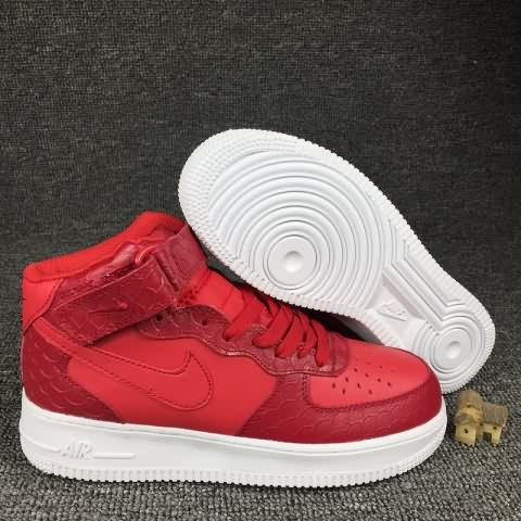 cheap wholesale Nike Air Force 1 AF1 Mid LV8 Crocodile Men shoes Red,price $69