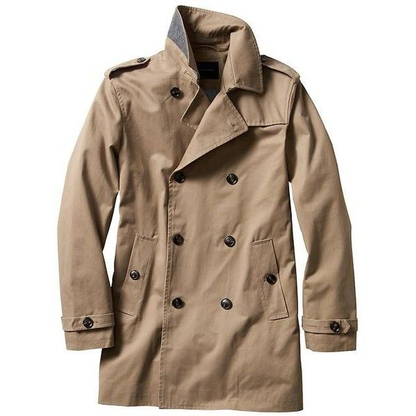 Banana Republic Men Factory Khaki Trench Coat (8.775 RUB) ❤ liked on Polyvore featuring men's fashion, men's clothing, men's outerwear, men's coats, men, mens trenchcoat, mens khaki coat, mens coats and mens khaki jacket outerwear