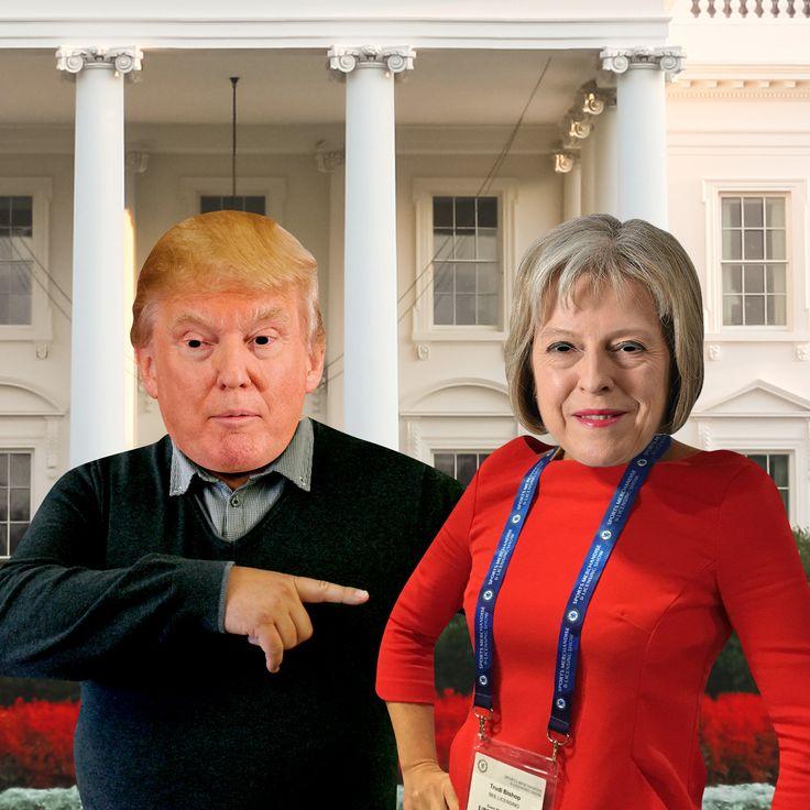 Donald Trump and Theresa May :D