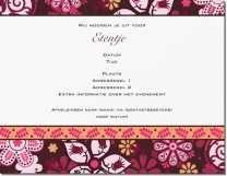bloem kastanjebruin Uitnodigingen en aankondigingen