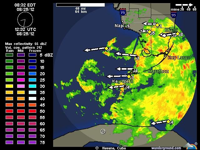 Key West Not So Far South Of SRQ Current Key West NEXRAD Radar - Weather radar map florida keys