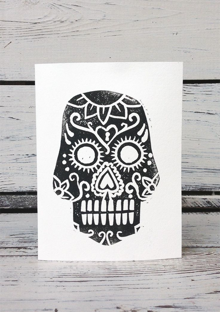 16 best greeting cards images on pinterest small businesses set forth studio calavera linocut print greeting card 6 this day of the dead sugar skull greeting card is blank inside making it perfect for all reheart Gallery
