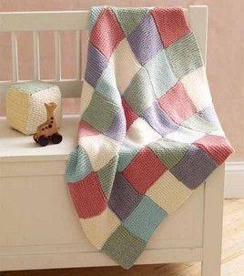 Martha Stewart Knitting Loom Patterns | Make a Patchwork baby throw with Martha Stewart Knit and Weave Loom ...