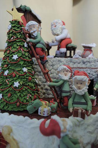 Le creazioni di #cakedesign per un Natale dolcissimo... #artigianoinfiera