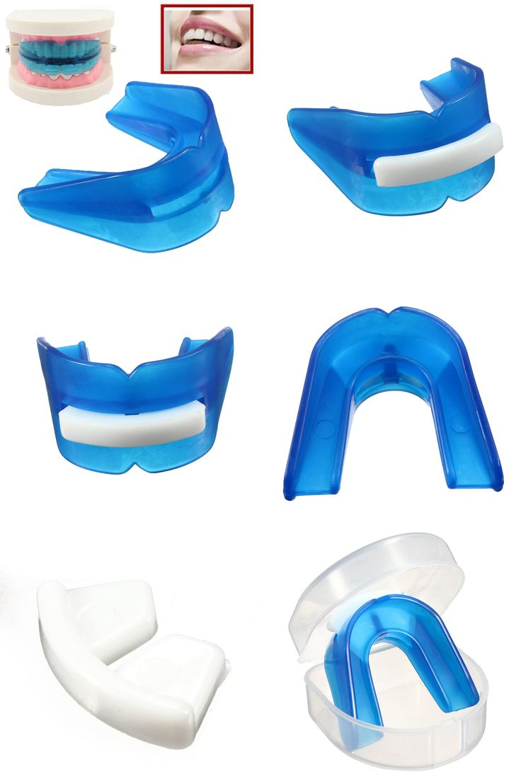 [Visit to Buy] Blue Stop Teeth Clenching Grinding Sleep Aid Mouth Guard Custom Mold Anti Snoring Sleep Bruxism With Case Box Health Care #Advertisement