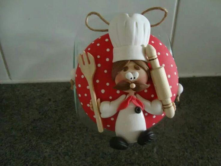 Galletero en porcelana fría