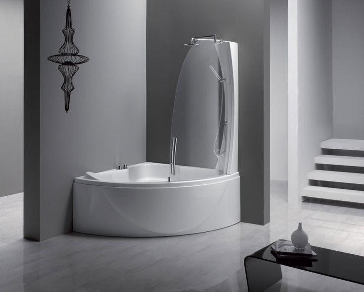 Vasca da bagno doccia d'angolo SPHERA 140 COMB by Studio Lenci AQUALIFE SRL