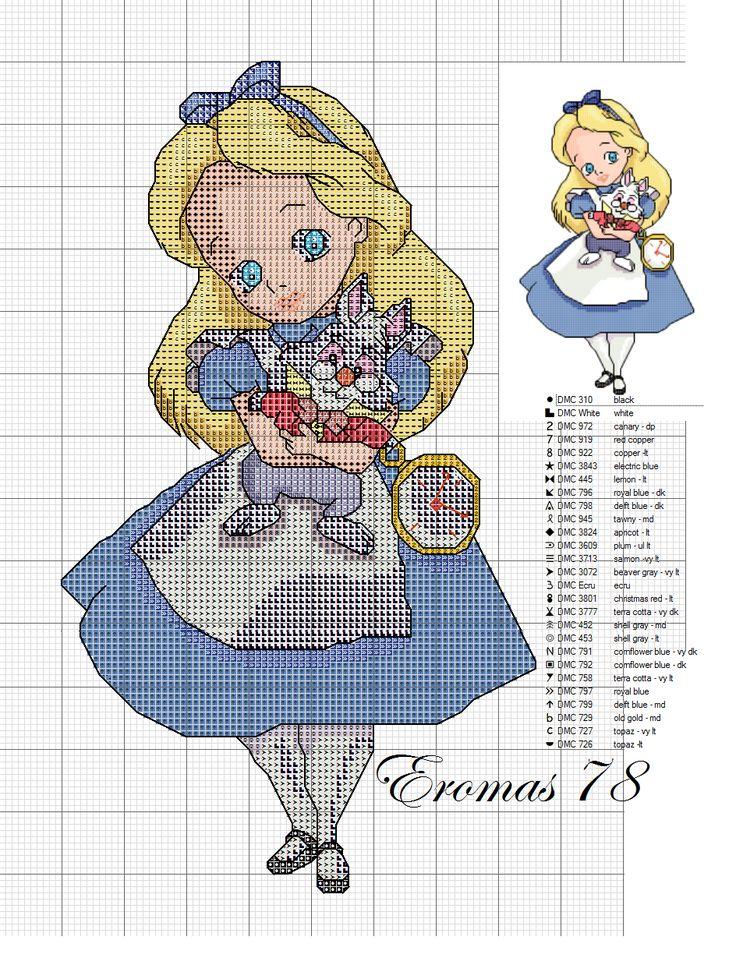 baby disney cross stitch scheme | Hobbies needlework - embroidery - crochet - knit