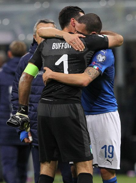 Gianluigi Buffon of Italy cries after loosing at the end of the FIFA 2018 World ...