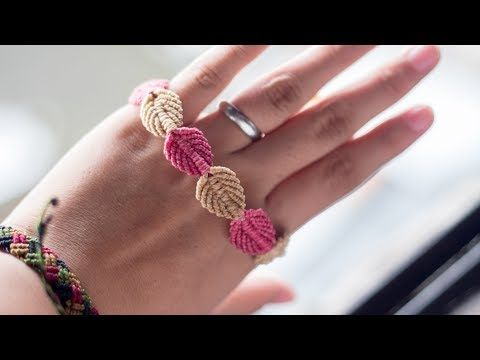 Macrame bracelet tutorial. DIY macrame & crafts. How to make satin cuff macrame bracelet. - YouTube