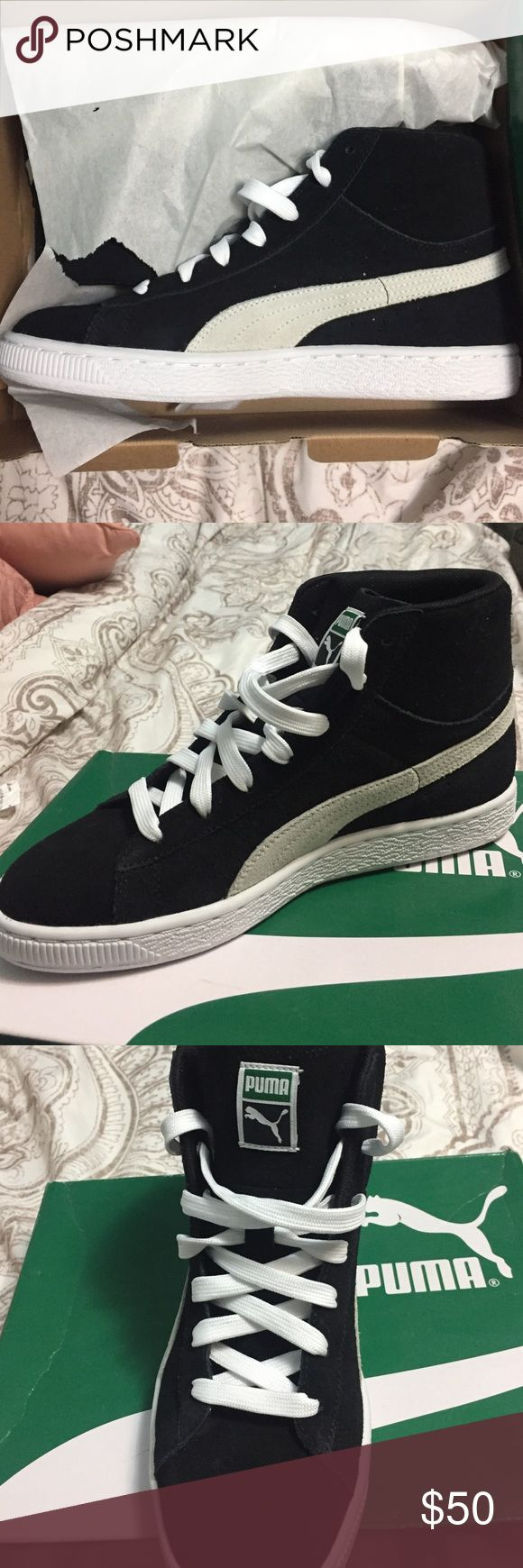 Details about puma womens suede classic rg black running shoes - Puma Black White Size 6 5 Classic New Puma Suede Classic Hightop Size 6 5 In Mens