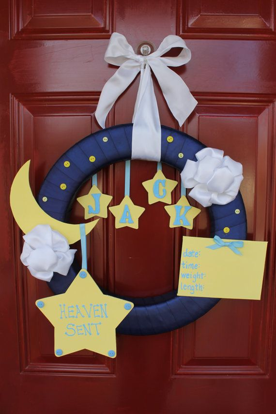 For the door on aidens room star and moon theme