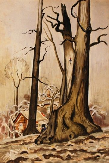 House in the Woods Charles Burchfield
