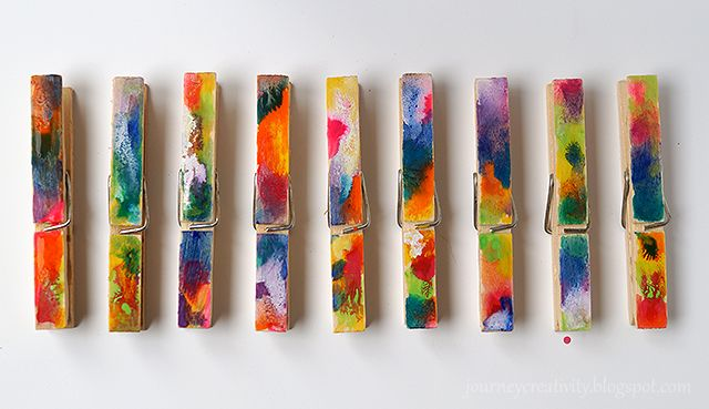Journey into Creativity: Colorful art clothespins