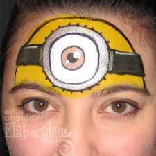 Image result for minion face paint                                                                                                                                                                                 More