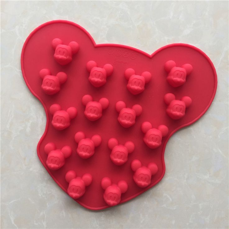 16 Cavity Micky Mickey Mouse Biscuit Cake Pan Silicone Cake Baking Mold Ice Cube Lattice Tray Chocolate DIY #Affiliate