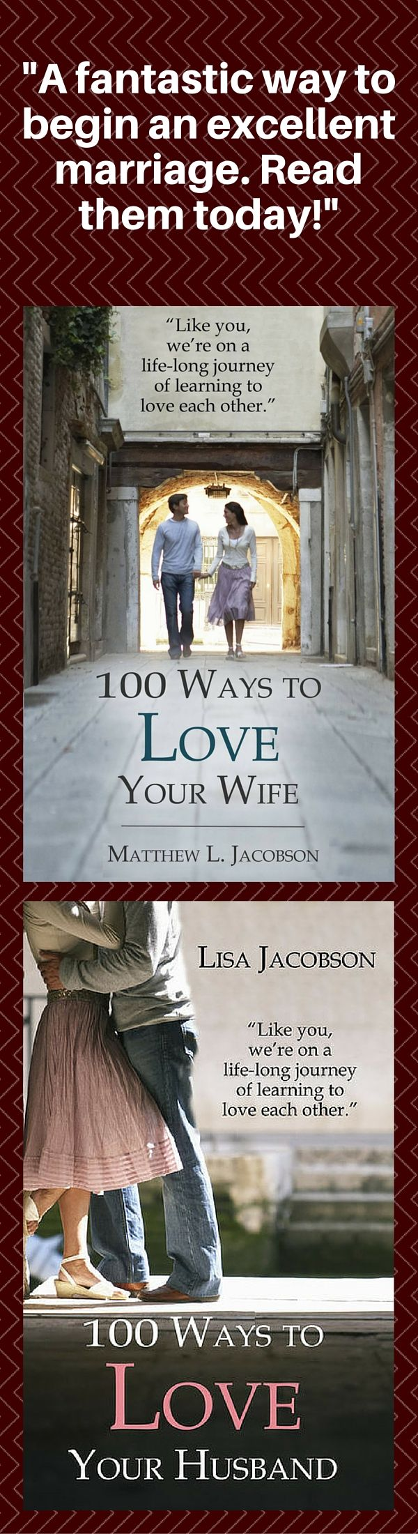 "Great marriages that last are built on a solid foundation. These books will help you start out right . . . and stay that way. BUT, if you've been married for some time and you're struggling, they'll also help to ""reboot"" your relationship and begin building on a solid foundation, today."