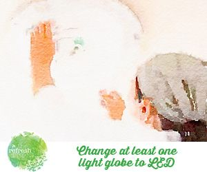 Money can be saved just by changing your light globes.  Have a look at our tips here: http://www.therefreshproject.com.au/refresh-go-green/energy-saving-with-led-lights/