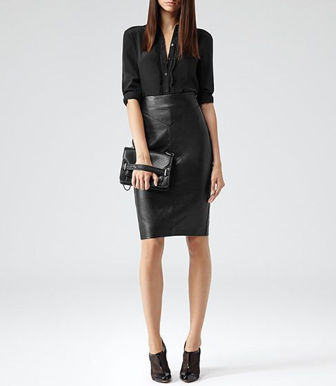 25 best ideas about black leather pencil skirt on