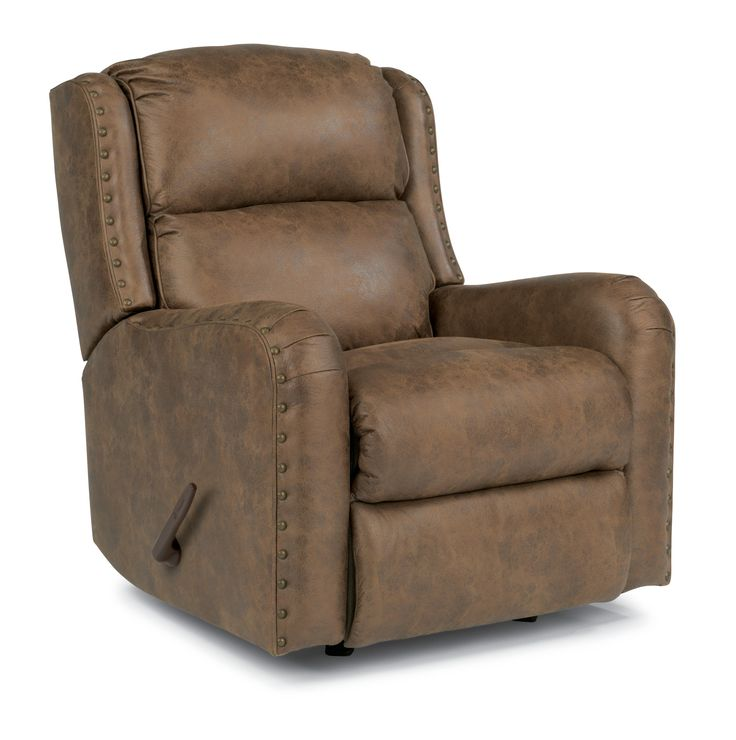 Flexsteel Cameron Rustic Rocker Recliner With Oversized Nailheads At  Sheelyu0027s Furniture U0026 Appliance
