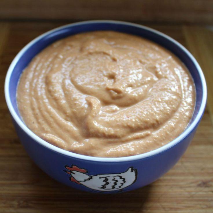 Red Kidney Bean dip cashew cream.