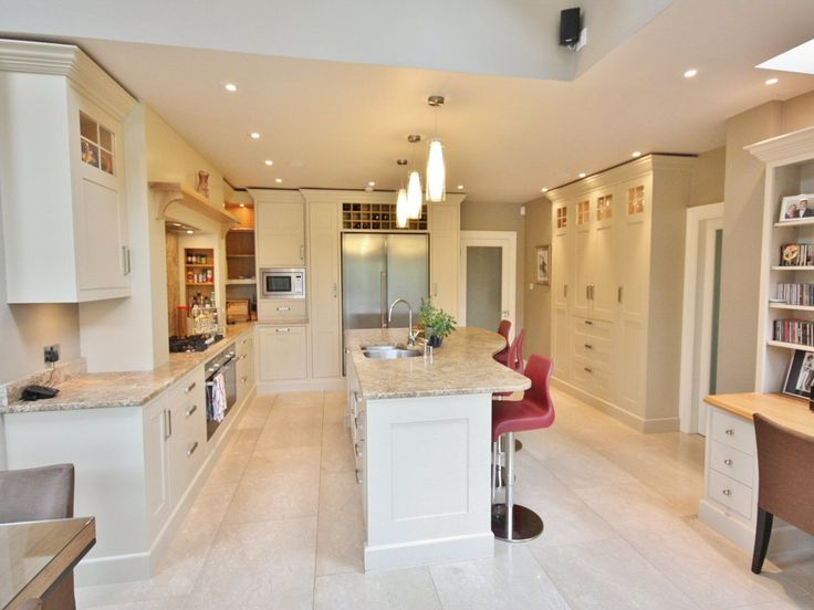 "Bespoke kitchen design hand-painted in ""Joa's White"" #enigmadesign #IrishKitchens"