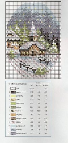 pinterest cross stitch churches | Cross Stitch Christmas
