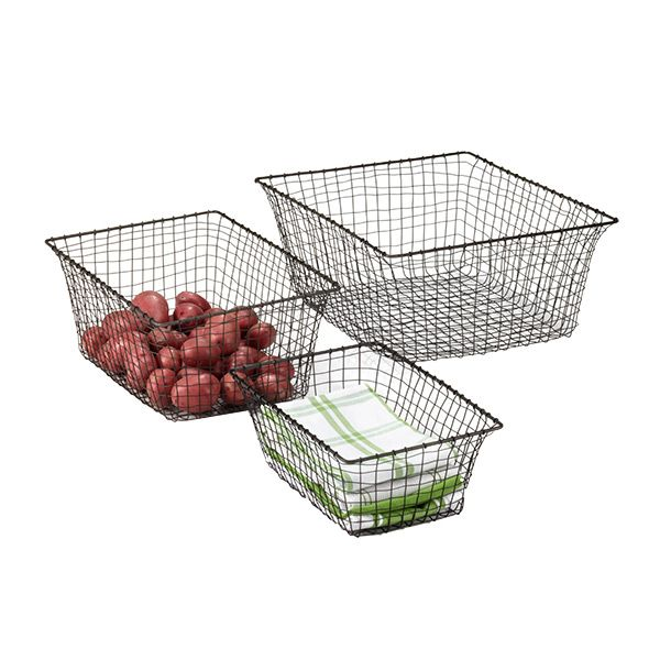 love these baskets from container store. currently serving as shoe storage.