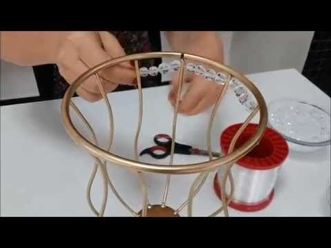 Passo a passo como bordar vasos e bandejas com pedrarias - YouTube