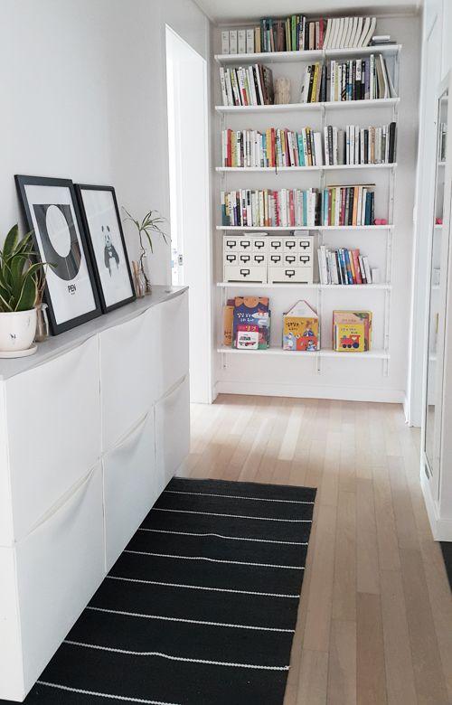 Ikea 'Trones' shoe storage & Ikea 'Ekby/Gällo' wall shelves
