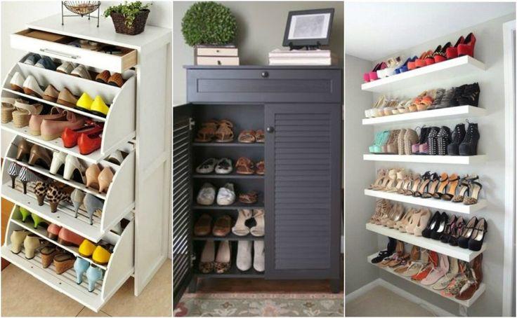 Έξυπνες ιδέες αποθήκευσης των παπουτσιών σου