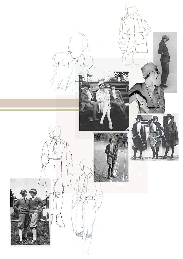 BOONSITA SINGHTOTHONG | LINES AND CURVES: NOSTALGIA.  fashion design, fashion, portfolio, layout, art, drawing, sketching