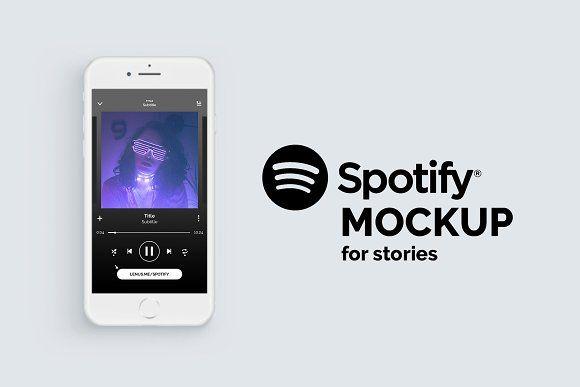 Spotify Mockup For Instagram Stories Instagram Story Spotify Mockup