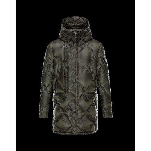 Billige Moncler EDWIN Turtleneck Dark Grøn Vinter Jakker Techno Fabric/Polyamide Herre 41456985CP Udsalg
