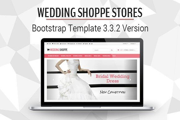 Wedding Shoppe Stores. Bootstrap Themes. $10.00