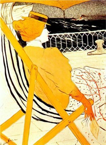The passenger in cabin 54 - Henri de Toulouse-Lautrec 1896 #art #painting