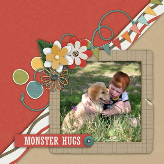 Awesome $2 Tuesday at Gingerscraps. Credits: Monster Hugs by Blue Heart Scraps http://store.gingerscraps.net/Monster-Hugs-Kit.html