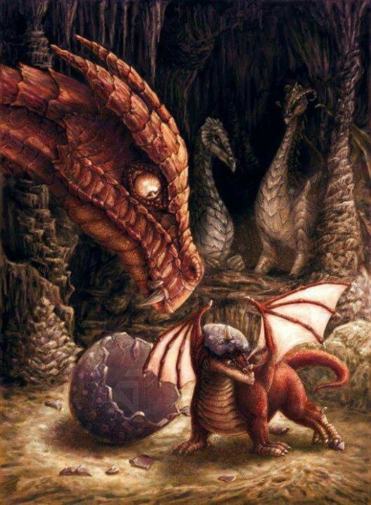 Dragon and baby dragon